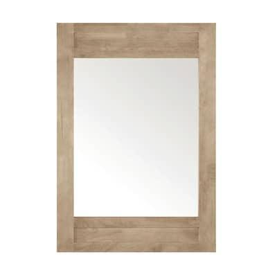 Aberdeen 40 in. x 28 in. Framed Wall Mount Mirror in Antique Oak