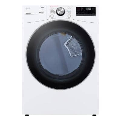 7.4 cu. ft. Ultra Large Capacity White Smart Electric Vented Dryer with Sensor Dry, TurboSteam & Wi-Fi Enabled