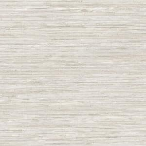Grey Vinyl Pre-Pasted Washable Wallpaper Roll (Covers 56 Sq. Ft.)