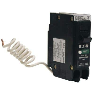 BR 15 Amp Single-Pole Combination Arc Fault Circuit Breaker