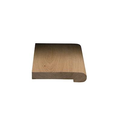 European White Oak Sunlight 1/2 in. T x 2-3/4 in. W x 78 in. L Solid Wood Flush Stair Nose Molding