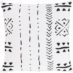 Samir 18 in. x 18 in. White Graphic Polyester Standard Throw Pillow