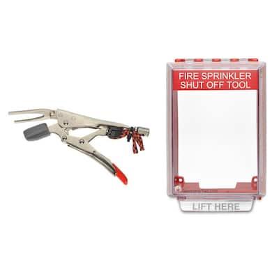 Fire Sprinkler Shut-Off Tool + Wall Mount Kit