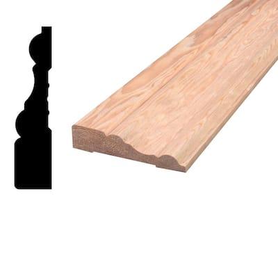 11/16 in. x 3 in. x 96 in. Mixed Grain Hemlock Wood Casing Moulding