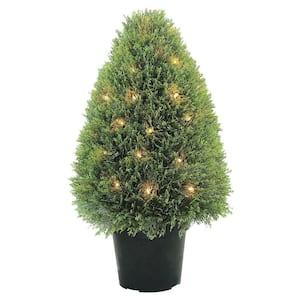 Deals on National Tree Company 30 in. Upright Juniper Tree w/Pot
