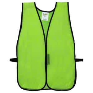 Lime Green Mesh High Visibility Safety Vest (One Size Fits All)