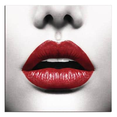 "Oppidan Home ""Red Lips"" Acrylic Wall Art (40""H X 40""W)"