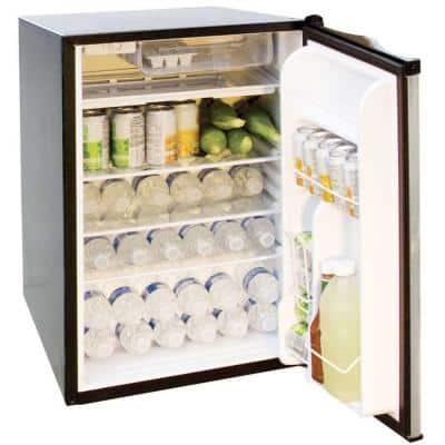 4.6 cu. ft. Mini Fridge in Stainless Steel with Black Cabinet