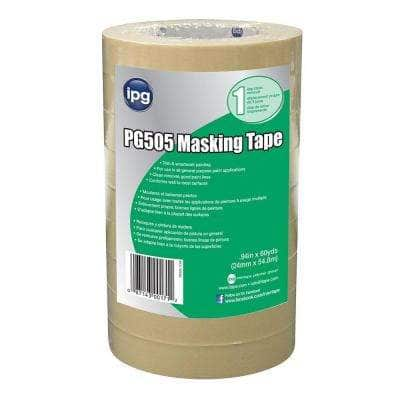 Utility Grade 0.94 in. x 60 yds. Paper Masking Tape (Case of 36 Rolls)