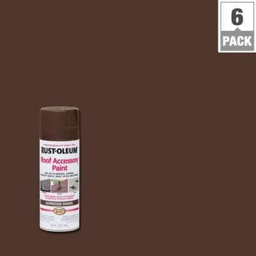 12 oz. Espresso Shake Roof Accessory Spray Paint (6-Pack)