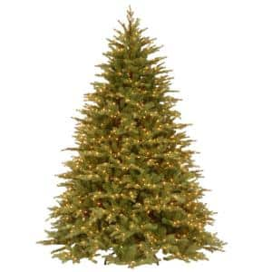 7-1/2 ft. Feel Real Nordic Spruce Hinged Artificial Christmas Tree with 1000 Clear Lights
