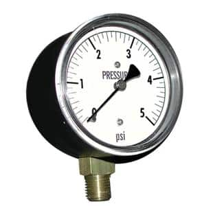 5 lb. Gas Test Gauge with 1/4 in. NPT Connection