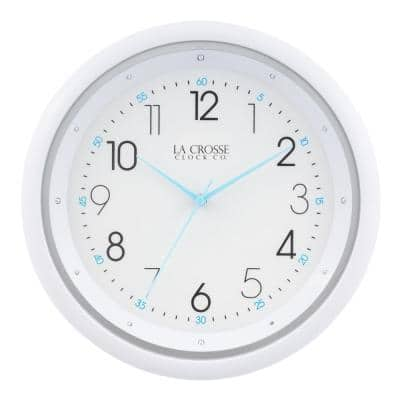 10 in. Night Vision Silent Sweep Quartz Analog Wall Clock