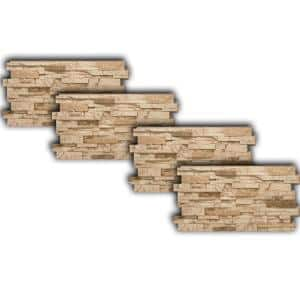 Stacked Stone #65 24 in. x 48 in. Mountain Country Stone Veneer Panel (4-Pack)