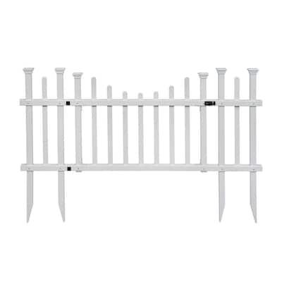 5 ft. W x 2.5 ft. H White Vinyl Washington Fence Gate Kit