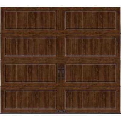 Gallery Collection 8 ft. x 7 ft. 6.5 R-Value Insulated Solid Ultra-Grain Walnut Garage Door