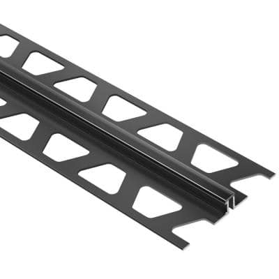 Dilex-BWS Black 3/8 in. x 8 ft. 2-1/2 in. PVC Movement Joint Tile Edging Trim