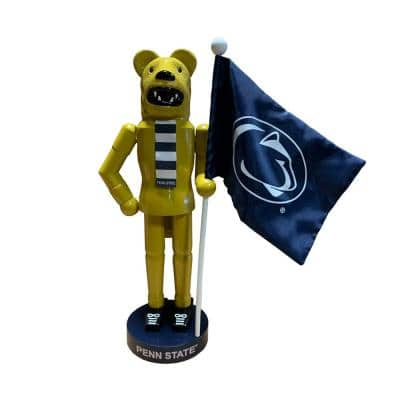12 in. PA State Mascot and Flag Nutcracker