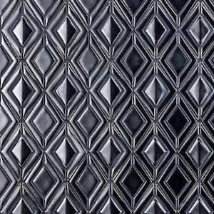 Delphi Jewel Gunmetal 12 in. x 16 in. Polished Ceramic Mosaic Tile (1.19 sq. ft./Sheet)