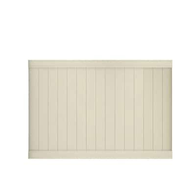 Pro Series 5 ft. H x 8 ft. W Vinyl Woodbridge Tan Unassembled Fence Panel