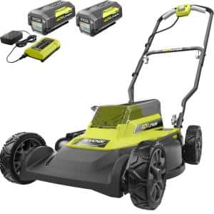 18 in. 40-Volt 2-in-1 Lithium-Ion Cordless Battery Walk Behind Push Mower with Two 4.0 Ah Batteries and Charger Included