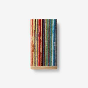 Rhythm Multicolored Striped Cotton Hand Towel