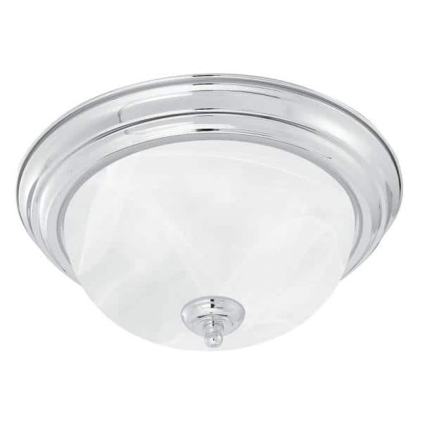 Thomas Lighting 3 Light Brushed Nickel, Ceiling Mount Bathroom Light Fixtures