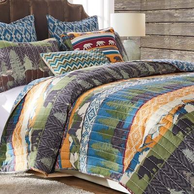 Black Bear Lodge Multicolo Quilt Set
