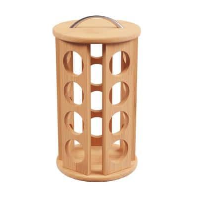 30-Count Bamboo Coffee Pod Carousel
