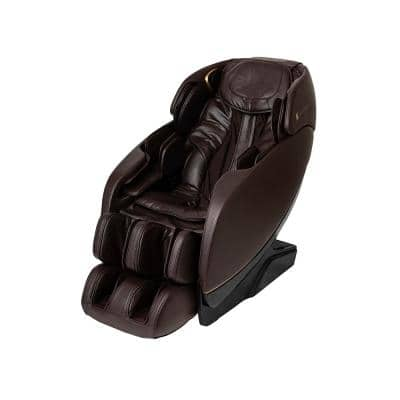 Inner Balance - Jin 2.0 - Espresso/Modern Synthetic Leather Heated SL Track Zero Wall Massage Chair