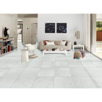 Kolasus White 24 in. x 24 in. Polished Porcelain Floor and Wall Tile (16 sq. ft./Case)