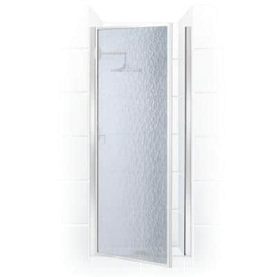 Legend 33.625 in. to 34.625 in. x 69 in. Framed Hinged Shower Door in Chrome with Obscure Glass