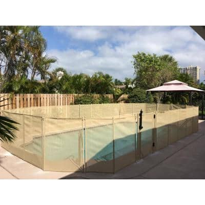 5 feet High x 30 Inches Wide Beige In Ground Self Closing Pool Safety Gate