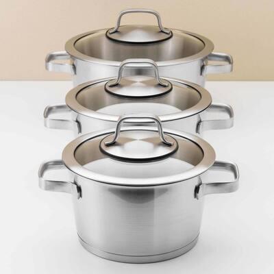 Essentials Manhattan 10-Piece Stainless Steel Cookware Set