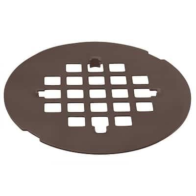 4-1/4 in. O.D. Casper Brass Snap-In Shower Strainer Grid in Oil Rubbed Bronze