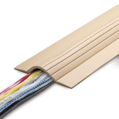 5 ft. Cable Blanket Low Profile Cord Cover and Protector for Floor in Beige