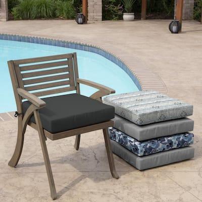 Slate Grey Acrylic Square Outdoor Seat Cushion