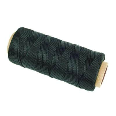 3/64 in. x 250 ft. Twisted Polypropylene Twine Rope, Black