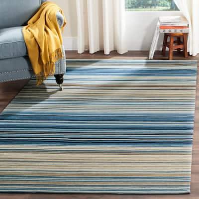 Marbella Blue/Multi 8 ft. x 10 ft. Striped Area Rug