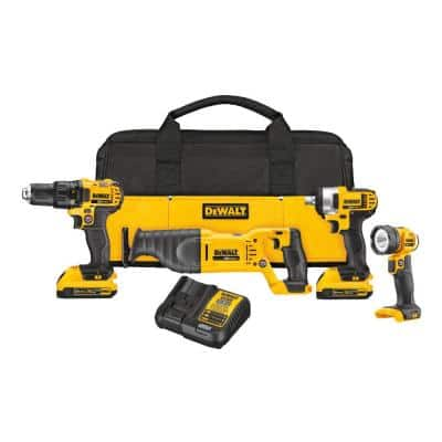 20-Volt Maximum Lithium-Ion Cordless Combo Kit with 2 Batteries 2.0 mAh, Charger and Tool Bag