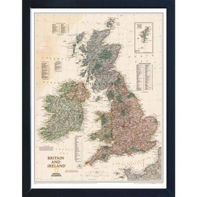 National Geographic Framed Interactive Wall Art Travel Map with Magnets- Japan Executive