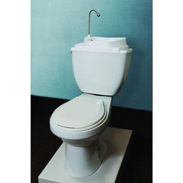 touch free water space saving adjustable toilet tank retrofit sink faucet basin white