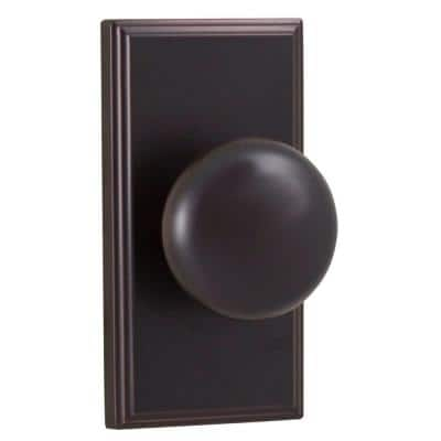 Elegance Oil-Rubbed Bronze Woodward Passage Hall/Closet Impresa Door Knob