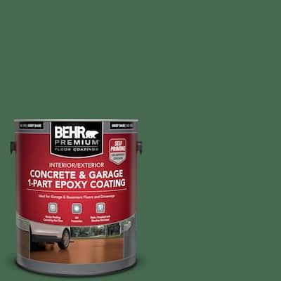 1 gal. #M410-7 Perennial Green Self-Priming 1-Part Epoxy Satin Interior/Exterior Concrete and Garage Floor Paint