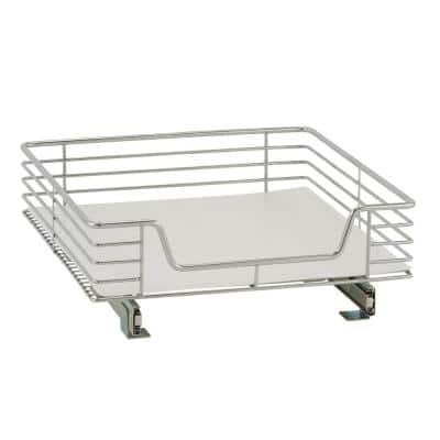 20 in. Standard Extended Organizer in Chrome with White Liner