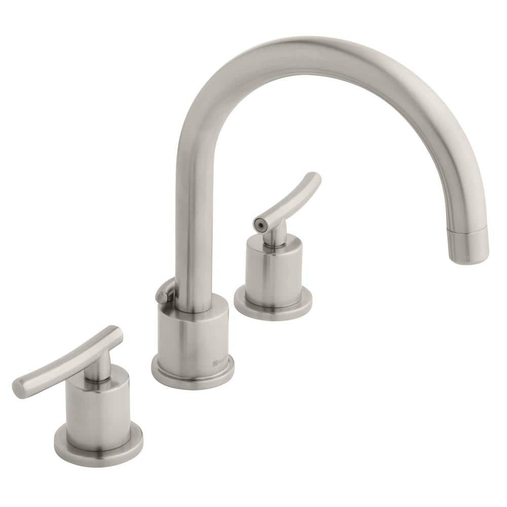 Glacier Bay Dorset 8 In Widespread 2 Handle High Arc Bathroom Faucet In Brushed Nickel Hd67731w 6004 The Home Depot