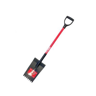 14-Gauge Shingle Shovel with Fiberglass D-Grip Handle