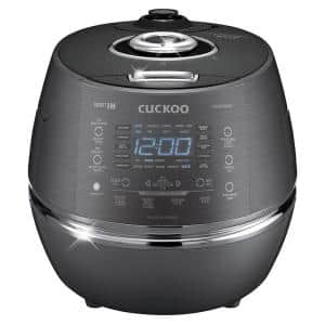 Cuckoo 6-Cup Induction Heating Pressure Rice Cooker in Dark Gray