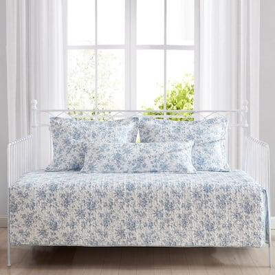 Walled Garden 4-Piece Blue Cotton Bonus Daybed Set