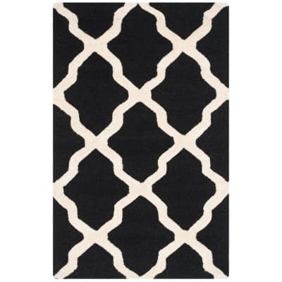 Cambridge Black/Ivory 3 ft. x 4 ft. Area Rug